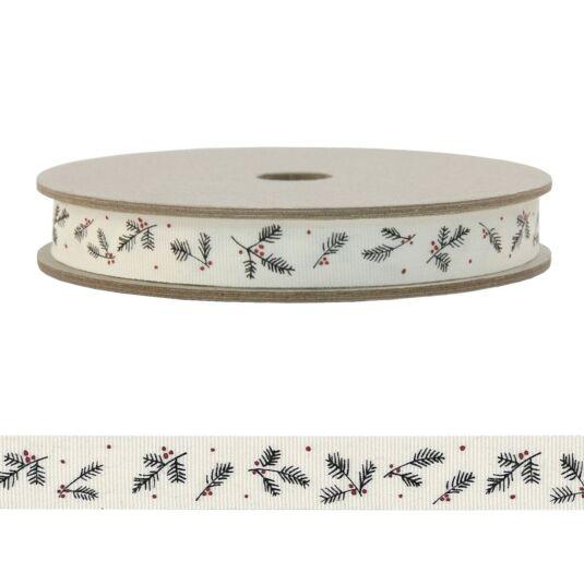 'Cream Berry' 20m Decorative Ribbon