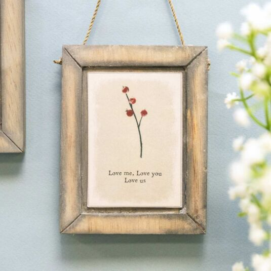 'Love Us' Hanging Berry Picture