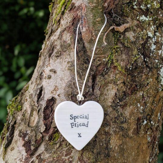 'Special Friend' Porcelain Heart