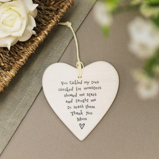 Thank You Mum Porcelain Heart