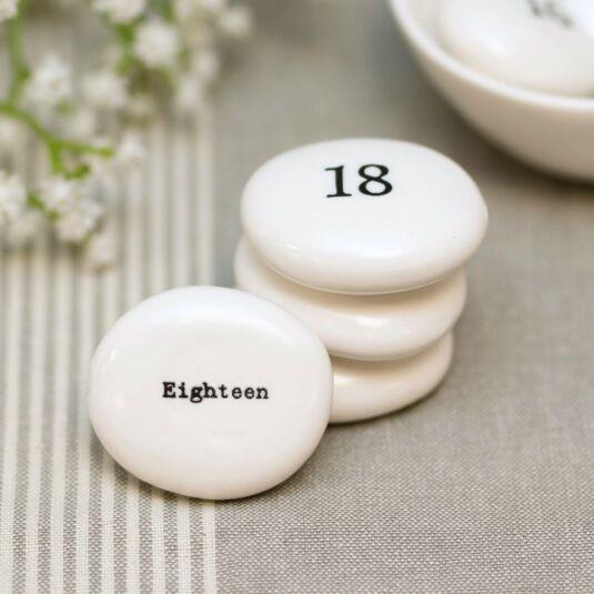 'Eighteen' Pebble