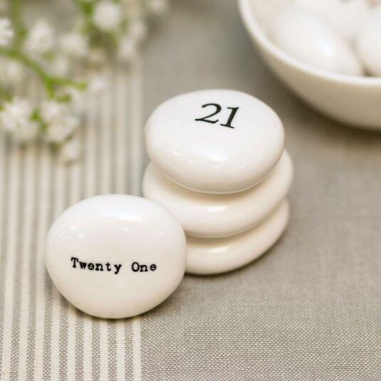 'Twenty One' Pebble