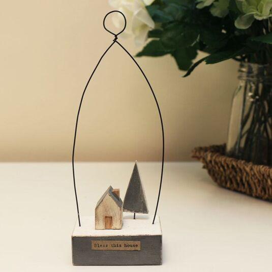 'Bless This House' Little House Wooden Scene