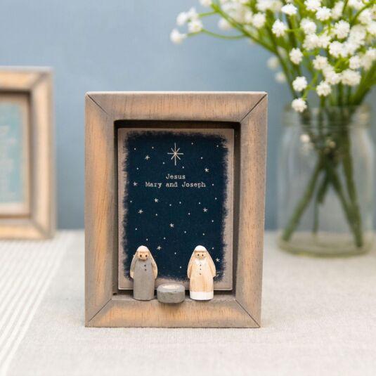 'Jesus Mary & Joseph' Box Frame