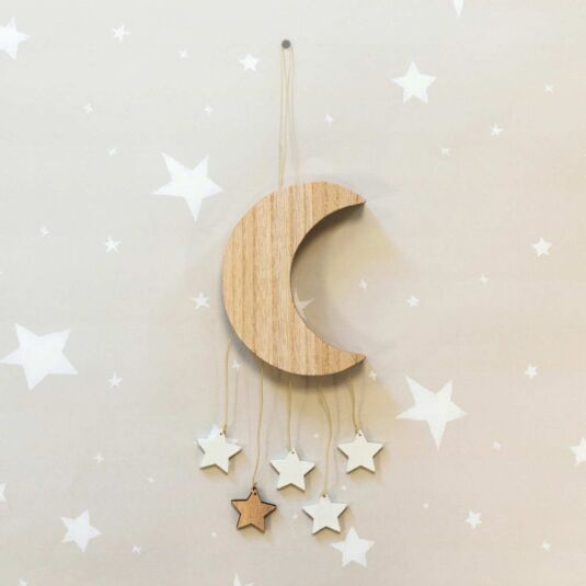 Wooden Moon Mobile