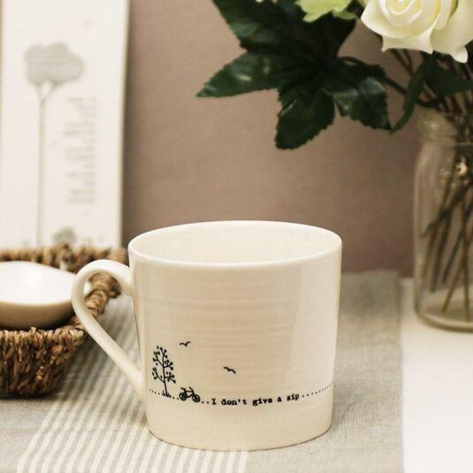 I Don't Give A Sip Wobbly Porcelain Boxed Mug
