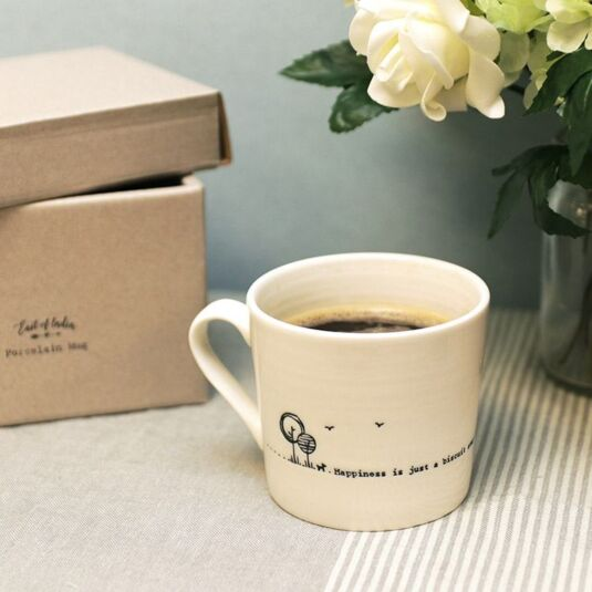 Just a Biscuit Away 'Wobbly' Porcelain Boxed Mug