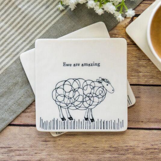 'Ewe Are Amazing' Square Coaster