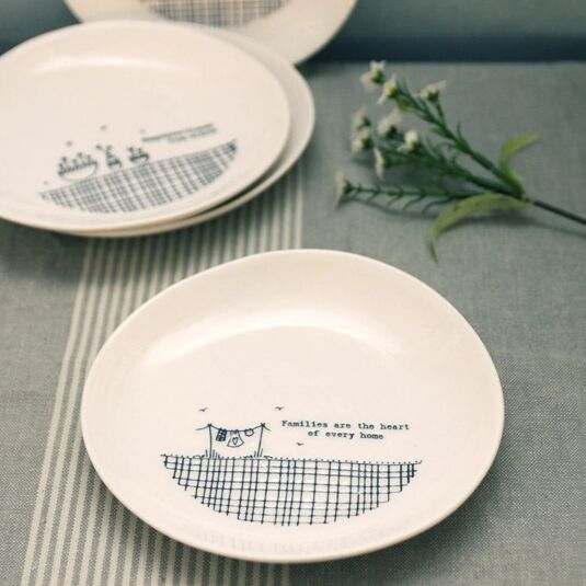 Families are the Heart 'Wobbly' Porcelain Plate