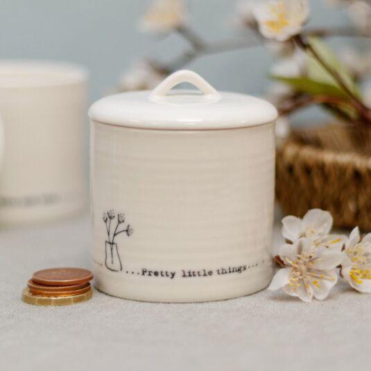 'Pretty Little Things' Lidded Porcelain Pot