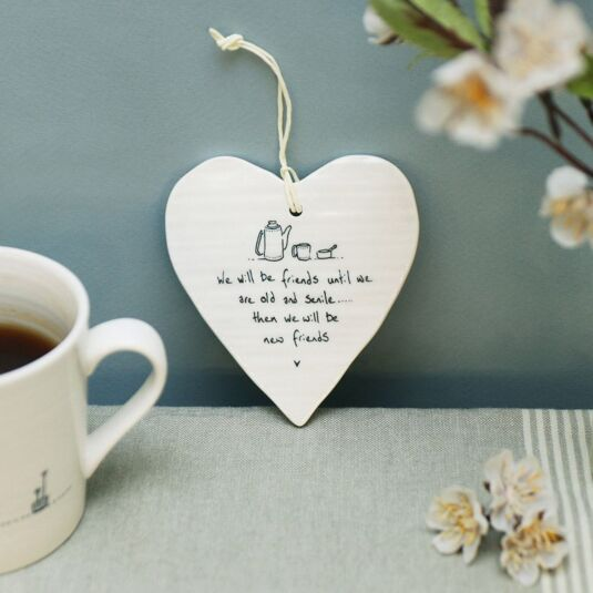 'New Friends' Porcelain Heart