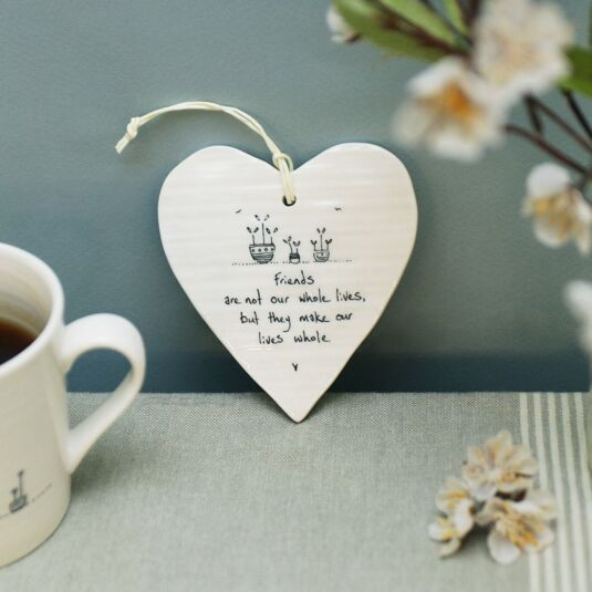 'Make Our Lives Whole' Porcelain Heart