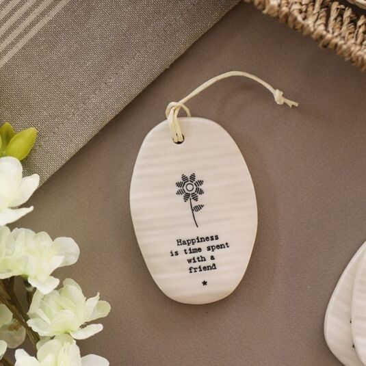 'Happiness Is' Porcelain Hanger