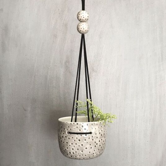 Hanging Dimpled Spots Planter