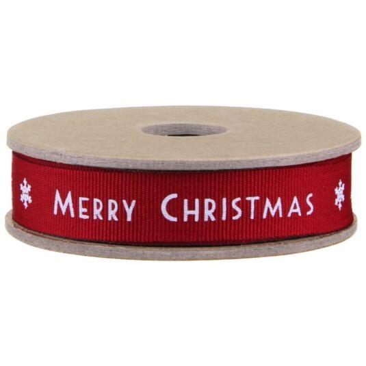 Red Christmas & Snowflake 3m Art Deco Ribbon