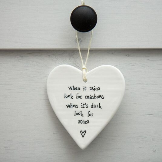 Porcelain Hanging Heart When It Rains
