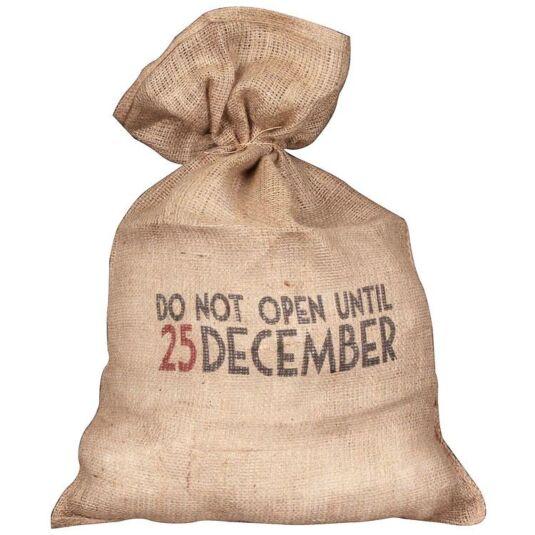 Do Not Open Until 25 December Santa Sack