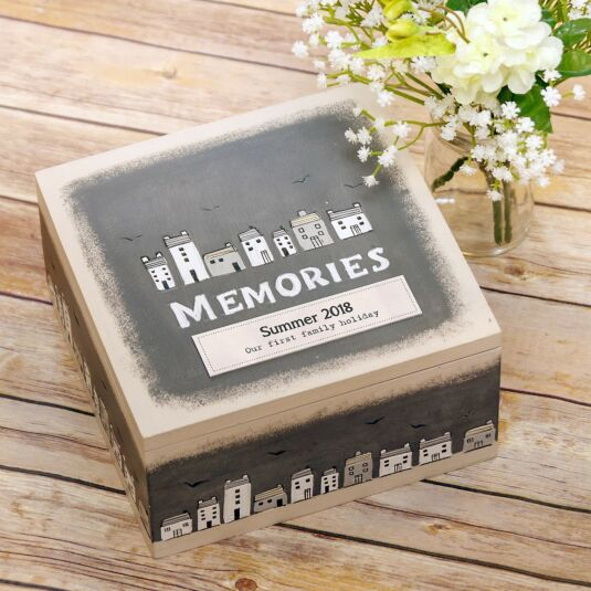 Personalised 'Memories' Keepsake Box