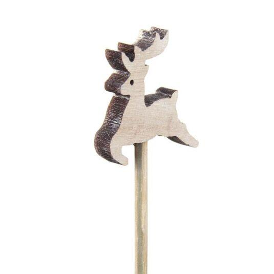 Reindeer on Wooden Stick