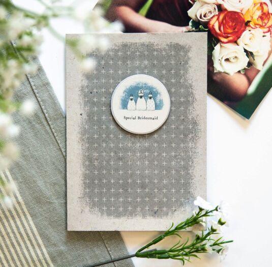 'Special Bridesmaid' Plaque Card