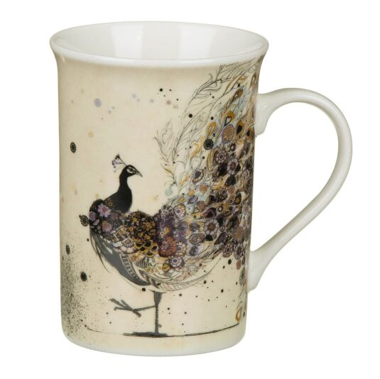 Bug Art Peacock Fine China Mug