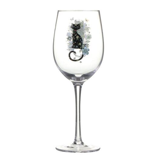 Bug Art Cat Wine Glass