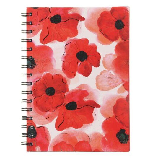 Turnowsky Poppy A5 Spiral Notebook
