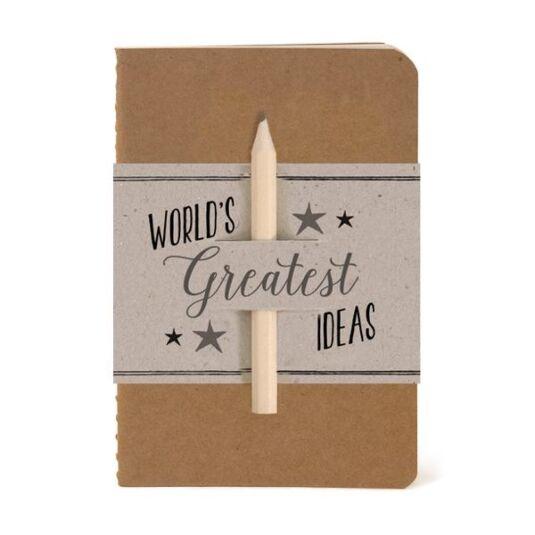 'World's Greatest Ideas' Notebook & Pencil