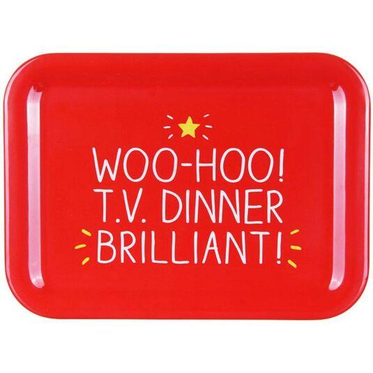 Woo-Hoo! TV Dinner! Melamine Tray