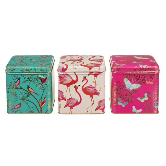 Set of 3 Square Tins