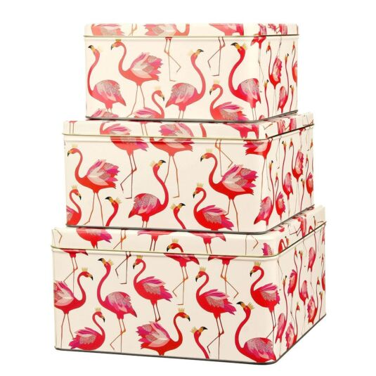Set of Three Flamingo Cake Tins