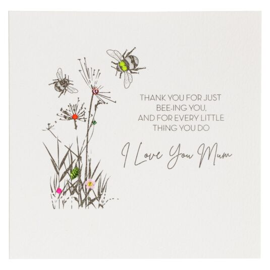 'Bee-ing You' Bumblebees & Flowers Mother's Day Card
