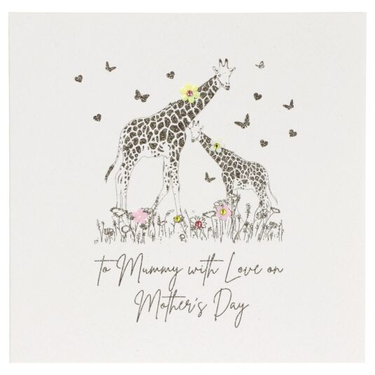 'Mummy With Love' Giraffe Mother's Day Card