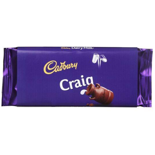 'Craig' 110g Dairy Milk Chocolate Bar