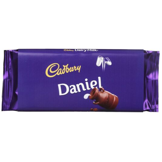 'Daniel' 110g Dairy Milk Chocolate Bar