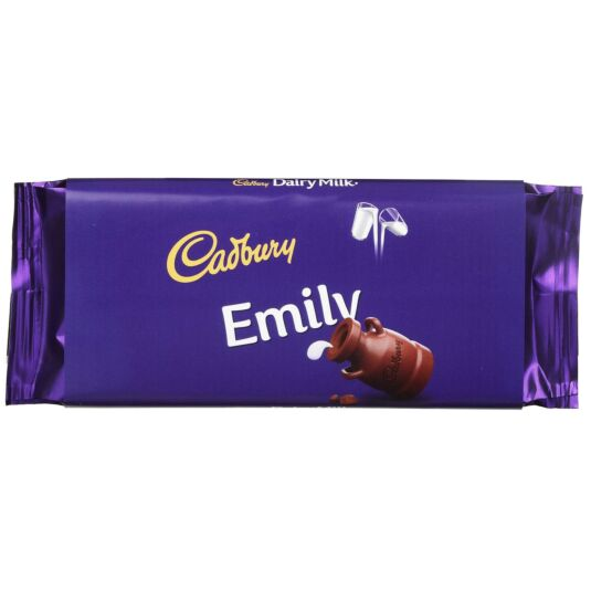 'Emily' 110g Dairy Milk Chocolate Bar