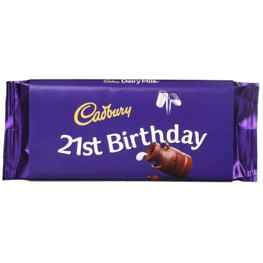 '21st Birthday' 110g Dairy Milk Chocolate Bar
