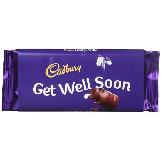 'Get Well Soon' 110g Dairy Milk Chocolate Bar