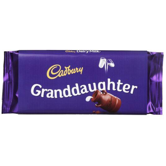 'Granddaughter' 110g Dairy Milk Chocolate Bar
