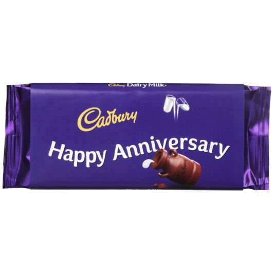 'Happy Anniversary' 110g Dairy Milk Chocolate Bar