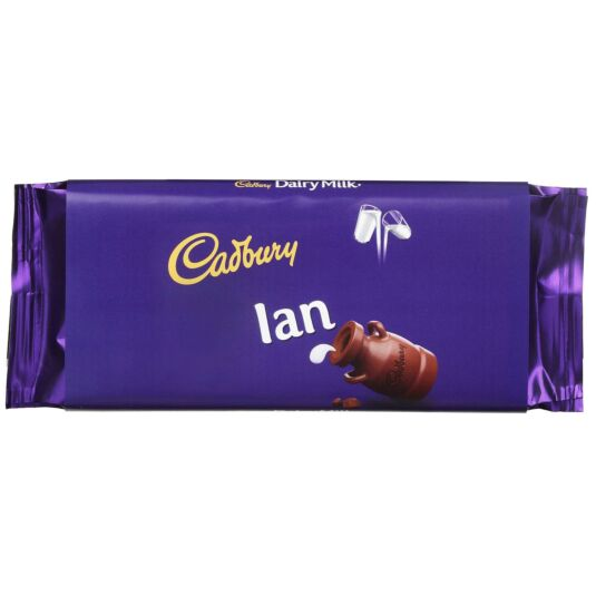 'Ian' 110g Dairy Milk Chocolate Bar