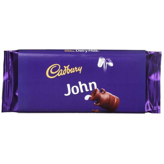 'John' 110g Dairy Milk Chocolate Bar