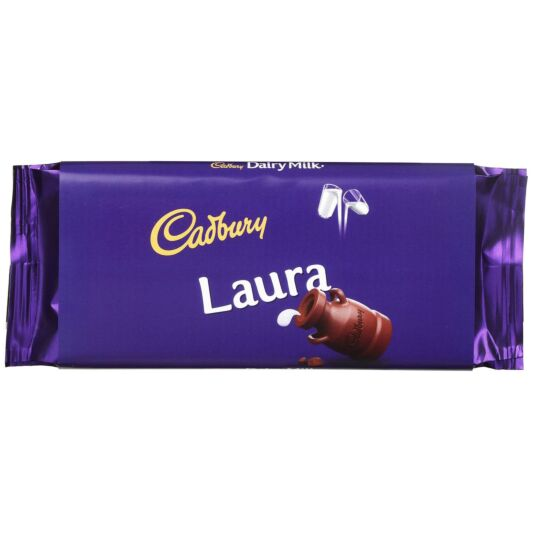 'Laura' 110g Dairy Milk Chocolate Bar
