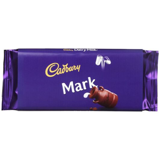 'Mark' 110g Dairy Milk Chocolate Bar
