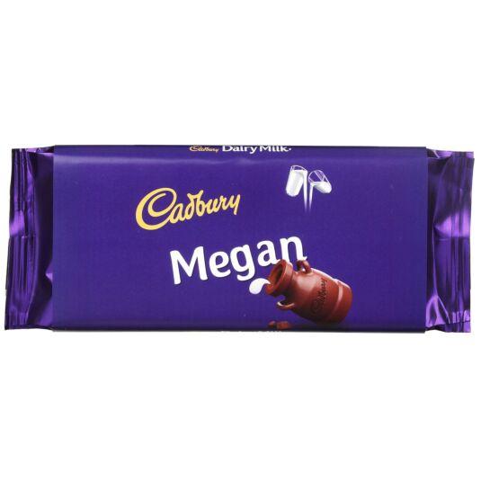 'Megan' 110g Dairy Milk Chocolate Bar