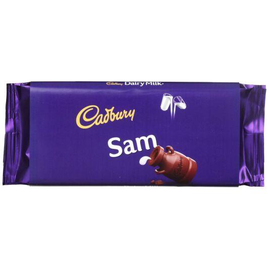 'Sam' 110g Dairy Milk Chocolate Bar