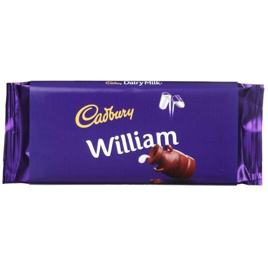 'William' 110g Dairy Milk Chocolate Bar