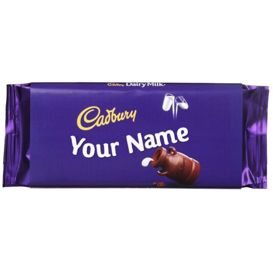 Personalised Name - 110g Dairy Milk Chocolate Bar
