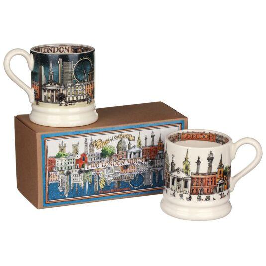 London Set of 2 Half Pint Boxed Mugs