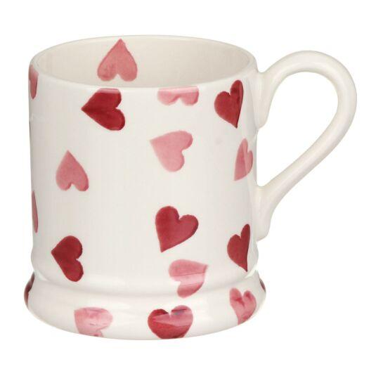 Pink Hearts Half Pint Mug